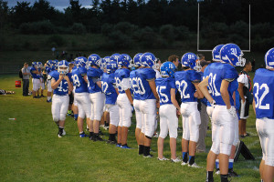 """Hollis Brookline football puts up their first """"W"""" of the season"""
