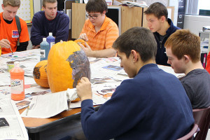 Leadership and Prevention Club paints pumpkins to connect with community