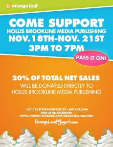 FRO-YO for a Cause: help grow The CavChron LINE this week at the Orange Leaf