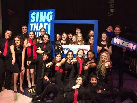 The Hollis Brookline Honors Choir sings it away on live TV