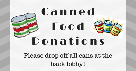 Canned Food Drive Ends 11/18