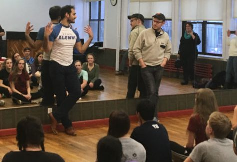 "Honors Choir on tour, day 1: song and dance with the cast of Broadway's ""Aladdin"""