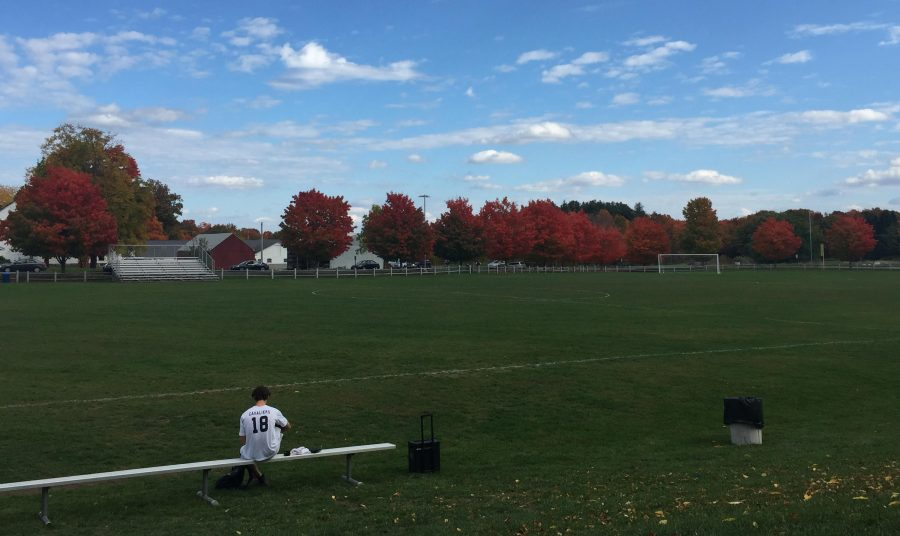The+Hollis+Brookline+soccer+field+after+a+fall+afternoon+game.