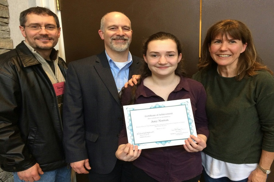 Amy Norton '19 places first place in the NHMEA Composition Contest for her original Jazz piece