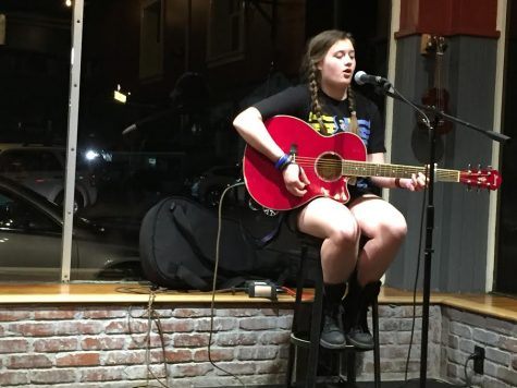 HB student musicians bring down the house at third open mic