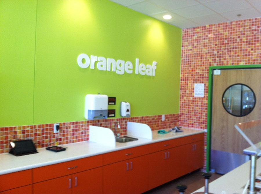 Photo credit Matt Caire. Stop by the new Orange Leaf in Amherst for a tasty treat