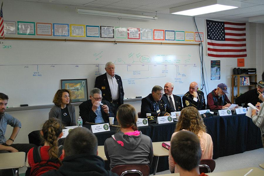 Veterans visiting the classroom