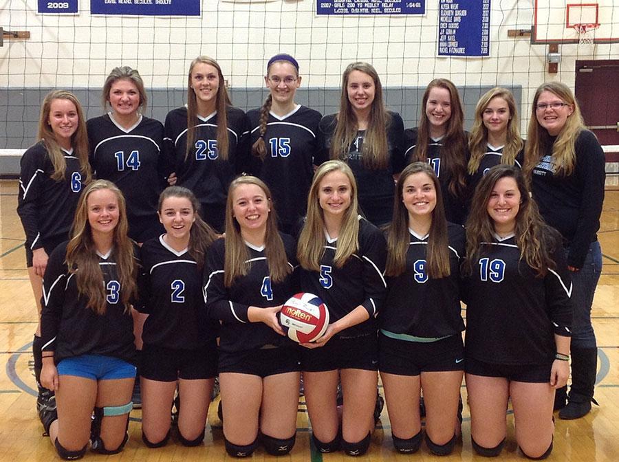 The Girls Varsity Volleyball team