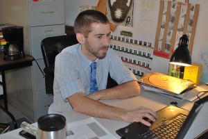 Mr. Warren supervising his CavBlock room.