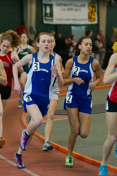 Emma Newton and Meghan Philpot, '14, running at Dartmouth College's track.