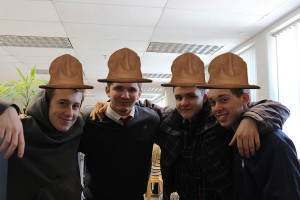 Pharell's Hat From left to right: Johnny O'Neil, Harrison Fetter, Matt Wing, Alex Merryman