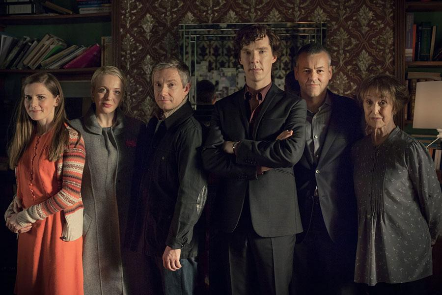 The cast of Sherlock as seen in