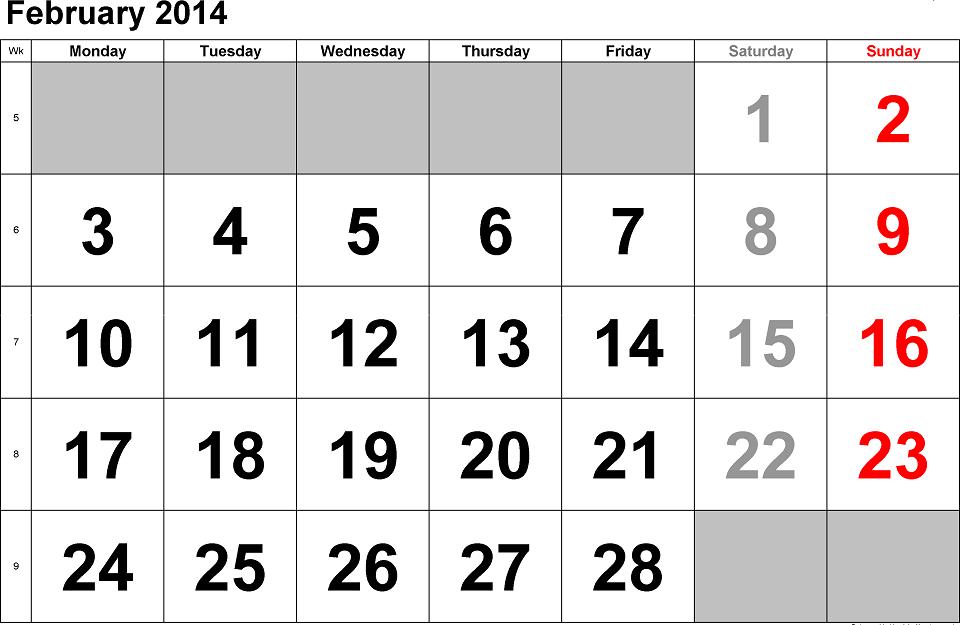 Valentines-Day-2014-Calendar-Printable