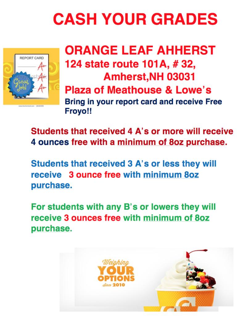 Orange Leaf owner offers Fro-yo bonus for good grades