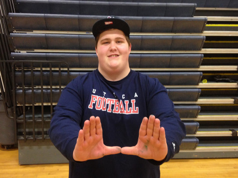 Shea Farrell committed to play Division III college football for the Utica Pioneers