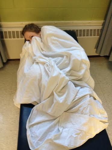Students lie in the nurses office as their health slowly withers away.