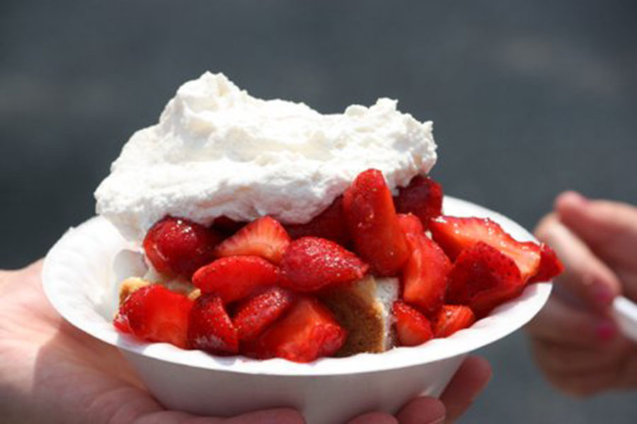 Strawberry shortcake is a festival favorite