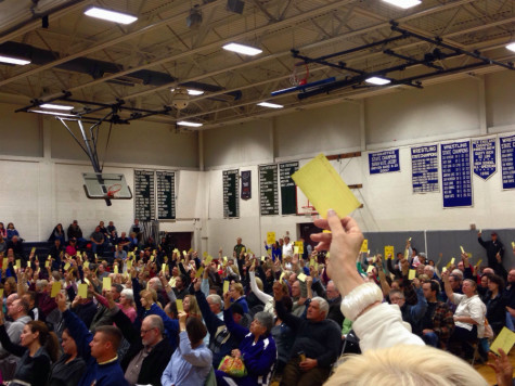 Citizens of Hollis cast their almost unanimous vote against the pipeline. Photo Credit: Julie Christie