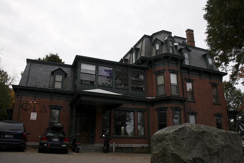 A frat house at the University of Vermont.