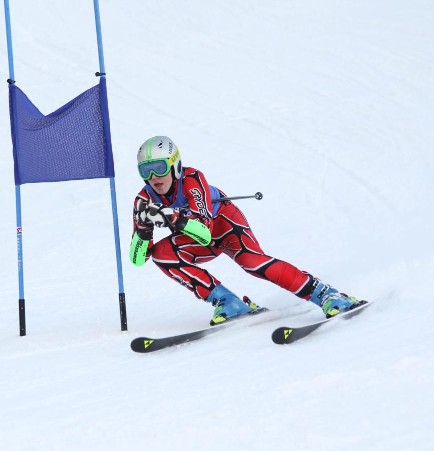 Trevor Cooke, '16, races down the slalom course last season.