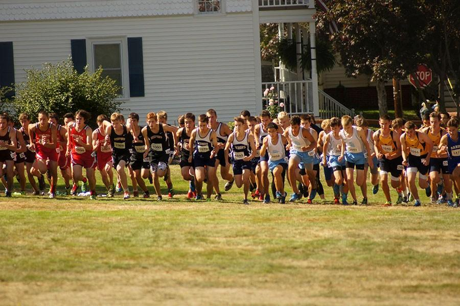 Boys Cross Country race during the 2015 season.