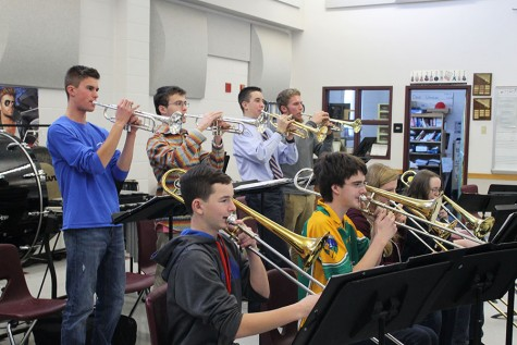 Trumpets and trombones often play in unision