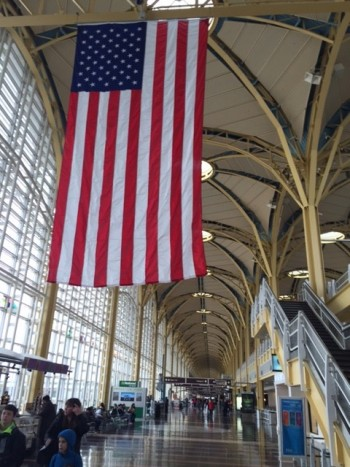 Inside the Reagan National Airport in Washington, DC where many travelers will be passing this holiday season.
