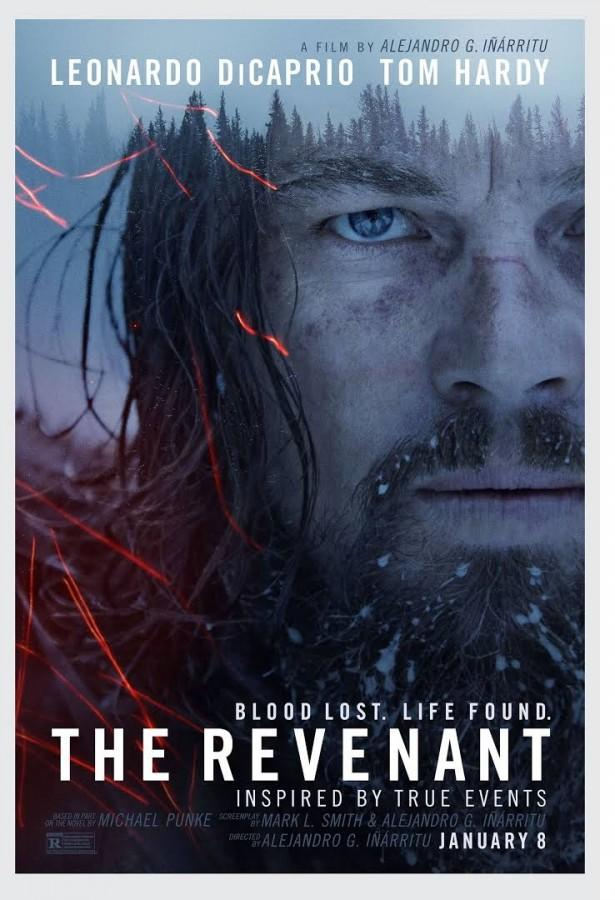 The movie poster for DiCaprio's newest film, The Revenant.