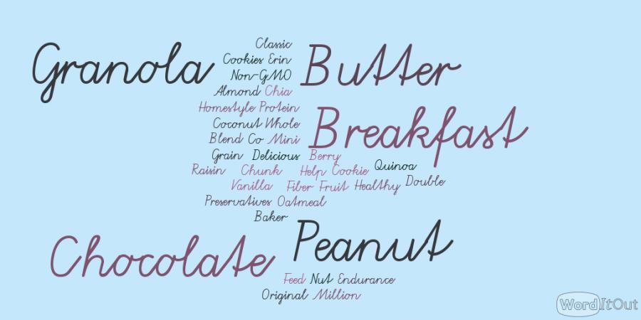 Jumble+of+descriptive+words+describing+Erin+Baker+Co.