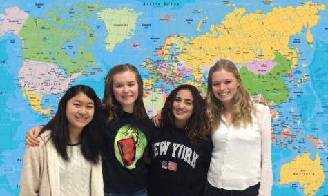 The four foreign exchange students who are attending HB for the 2015-16 school year.