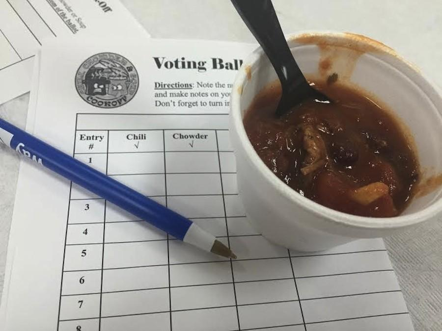 One of the competitors for the best chili contest.