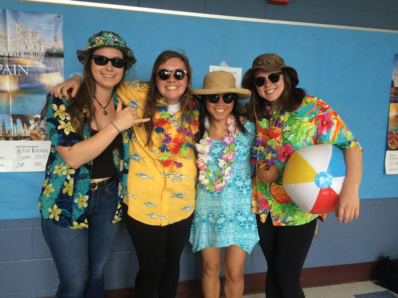 Showing the spirit: Tropical Tuesday