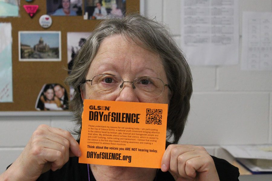 Ms.+Evans+supporting+the+Day+of+Silence.