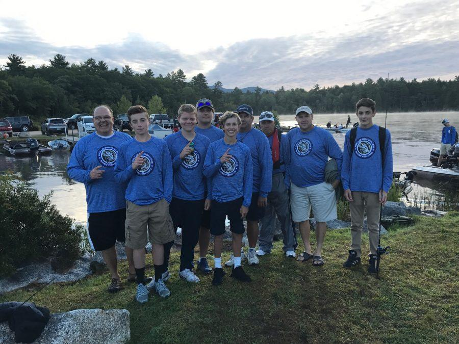 (From left to right) Stuart Bentall, Mitch Dryer '18, Kyle Bentall '18, Richard Cadario '17, Noah Kempton '18, Jack Cadario, Bill Lyons, Jay Kempton, and JJ Fiori '19
