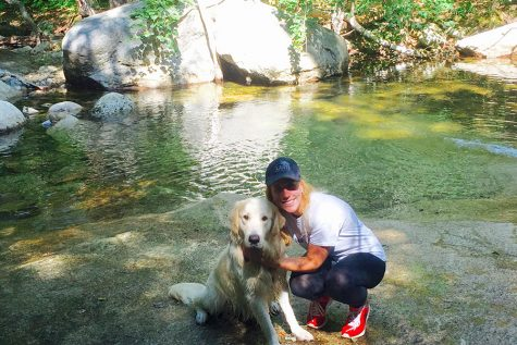 New English and Journalism teacher Heather Deegan loves hiking with her dog.