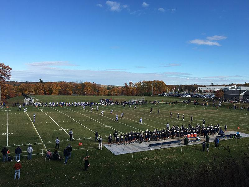 A view of the football team's final game against Windham