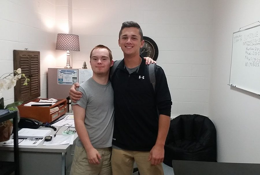 Nick White '17 with his close friend Aidan Keehan