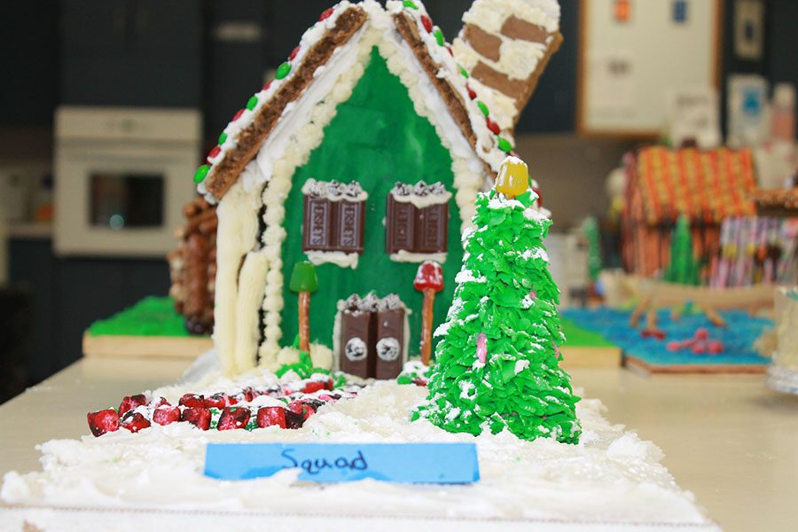 The 2016 foods and nutrition class keep tradition by making gingerbread houses during class