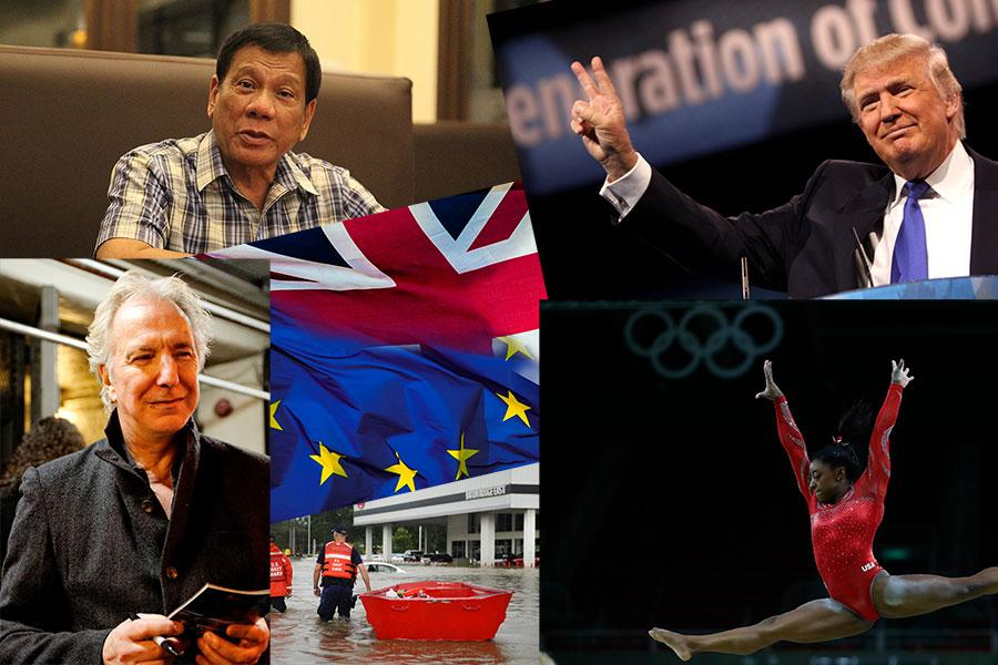 2016 was the year of the Olympics, ugly politics, and celebrity deaths.