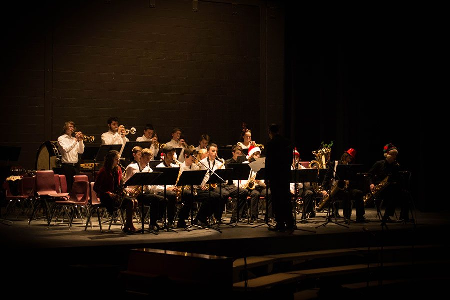 The Jazz Band donned festive hats to ring in the season.