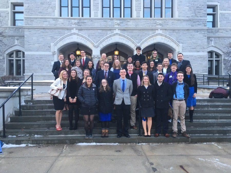 31 AP Government students traveled to the Concord State house on January 6 to compete in the