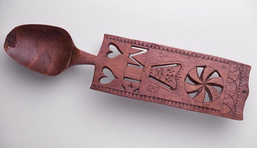 A traditional love spoon from Wales.