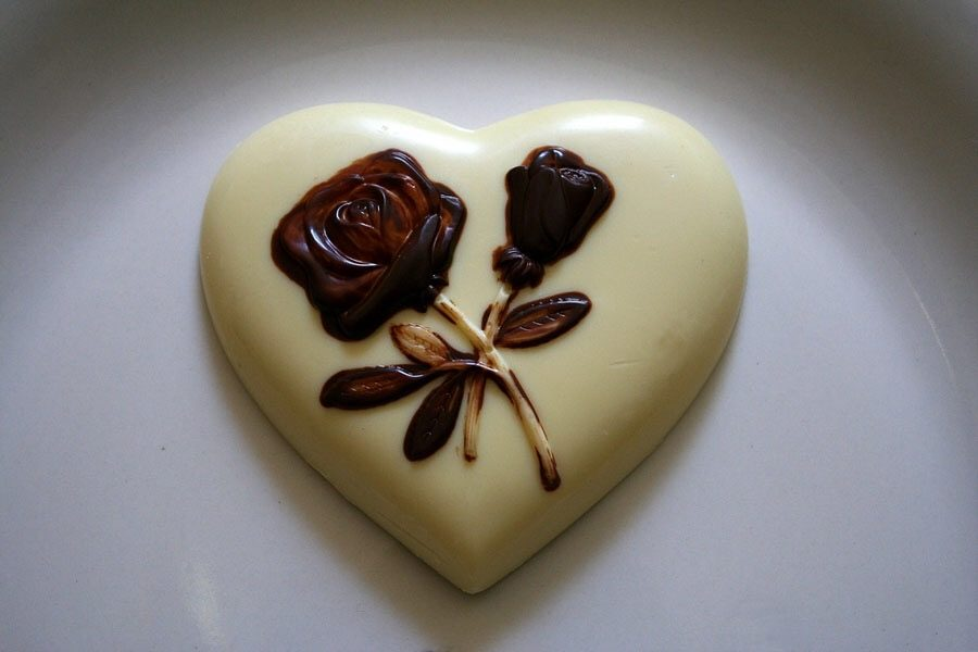 An example of Japanese chocolate for White Day.