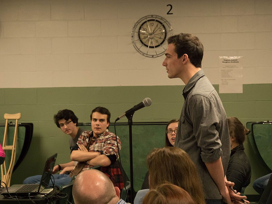 Patrick Bloniasz '18 gives his opinion on starting school an hour later than normal.