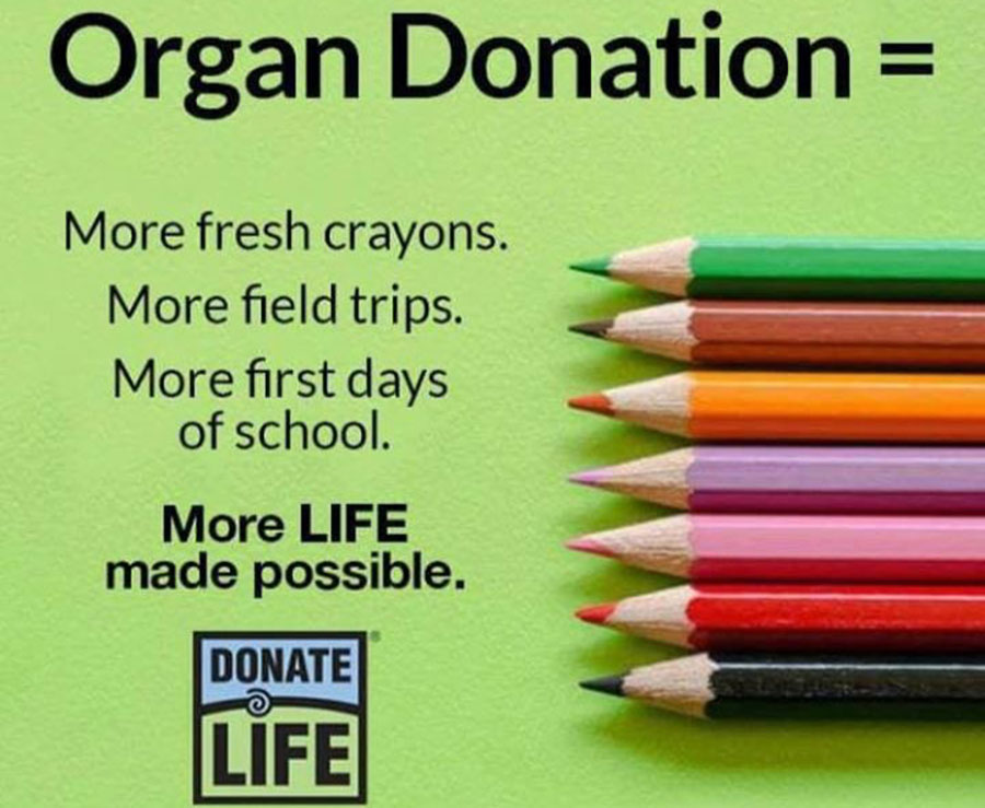 Signing up for organ donation can be your chance to save someone else's life.