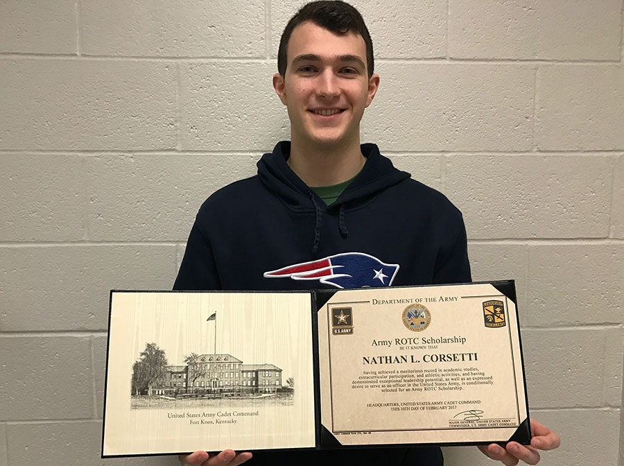 Nathan Corsetti '17 is looking forward to the ROTC program.