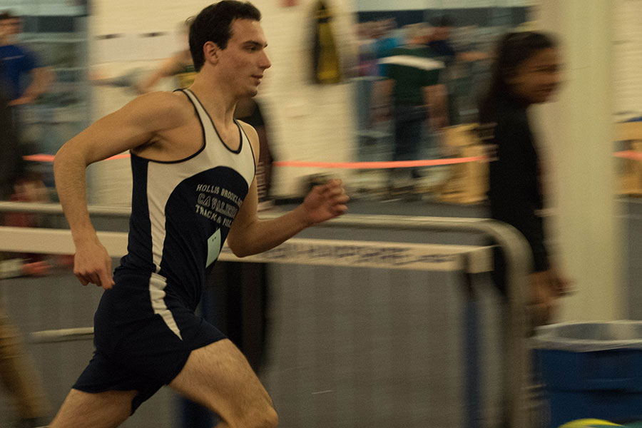 Patrick Bloniasz '18 used the winter track season to help him prepare for the upcoming spring season.