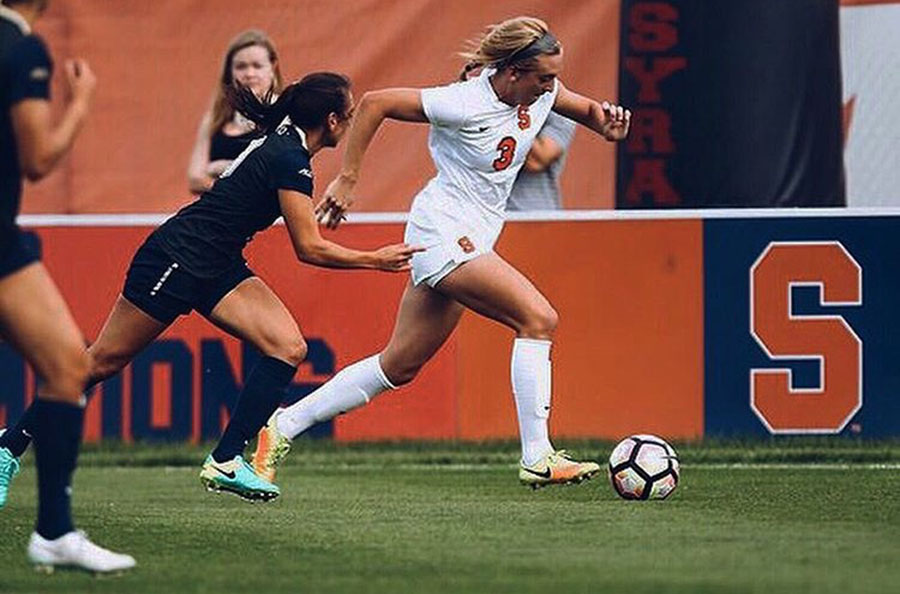Sydney Bracket, '16, playing D1 Women's Soccer for Syracuse