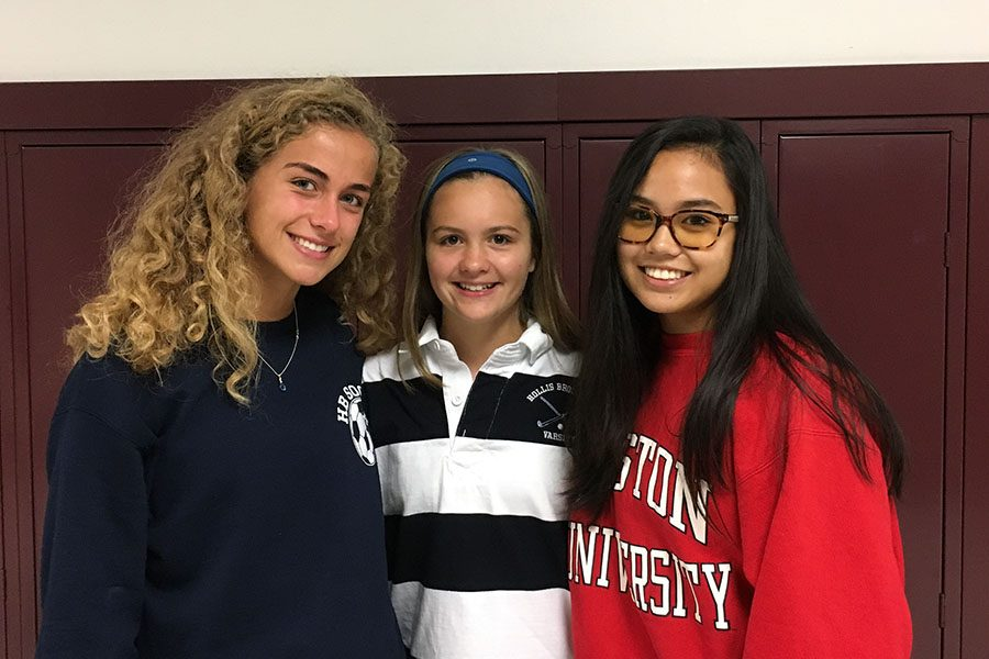 The founders of Topics in Politics, Victoria Bruzik, Mary Martin, and Lily Coady, all members of the class of 2020, work hard to get their new club off the ground. With new issues to be discussed every week, Topics in Politics offers a safe place to work out the problems from all viewpoints.