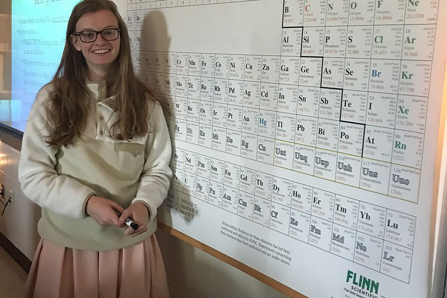 Cleary is excited to see what is to come of her newfound career in teaching chemistry at HBHS.